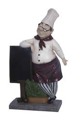 Culinary Chef and Menu Board