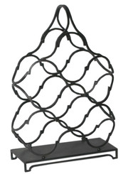 Wavy Modern design metal table top wine rack