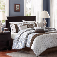 Crosby King Size Comforter Set 7 piece 104 by 92 inches