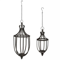 Alexia hanging lanterns set of two