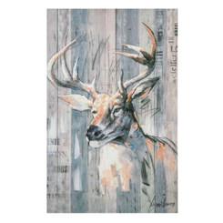 Rustic Deer Canvas Wall Art