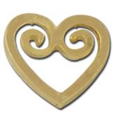 Heart Swirl Lapel Pin