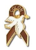 Colon Cancer Dove Lapel Pin