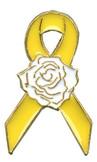 Yellow Ribbon Rose Lapel Pin
