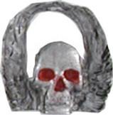 Winged Skull Pin