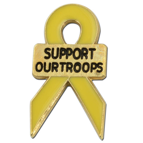 Support Our Troops Ribbon Pin