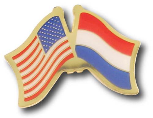 US / Holland Crossed Flags