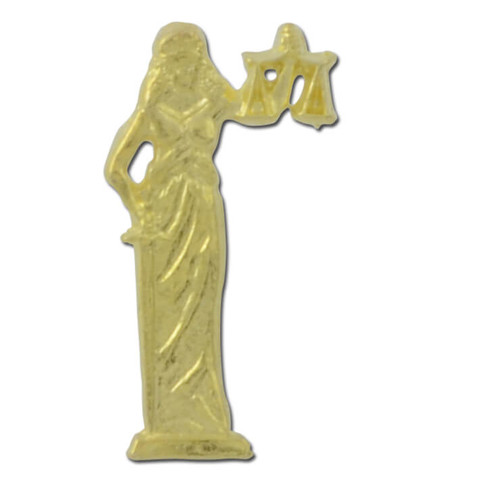 Lady of Justice Lapel Pin
