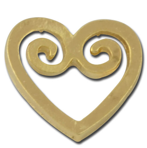 Heart Swirl Lapel Pin