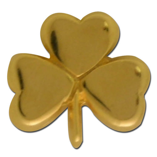 Gold Clover Lapel Pin