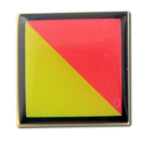 Nautical Code Flag O - Oscar lapel pin
