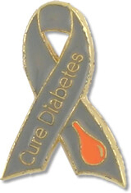 Cure-Diabetes-Ribbon-Lapel-Pin