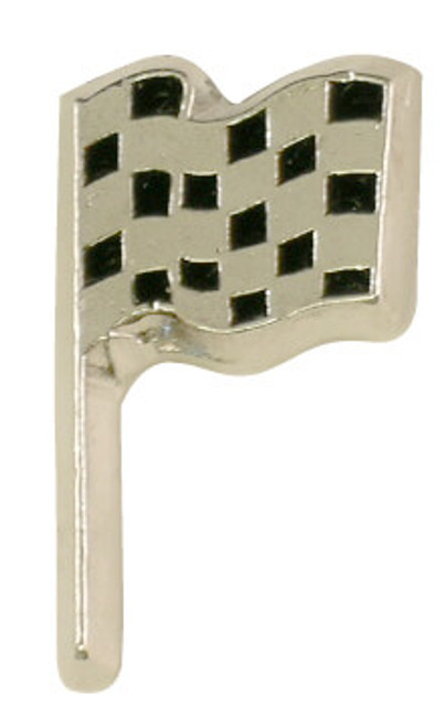 Single Checkered Flag Pin