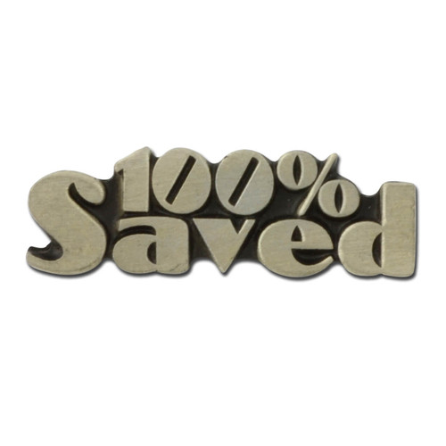 100% Saved Lapel Pin