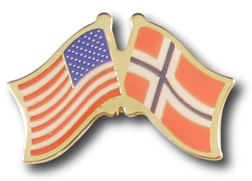 US Norway Crossed Flags
