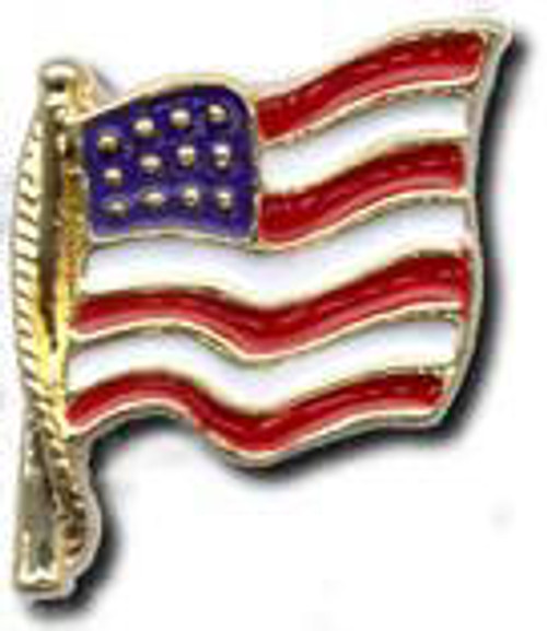 Cast American Flag Pin