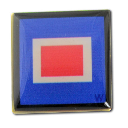 Nautical Code Flag Lapel Pin - W - Whiskey