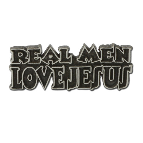 Real Men Love Jesus Pin