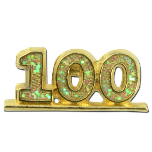 100 stoned Lapel Pin