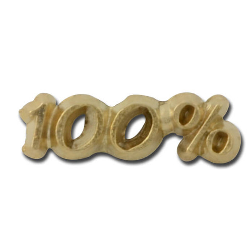 100 percent Lapel Pin