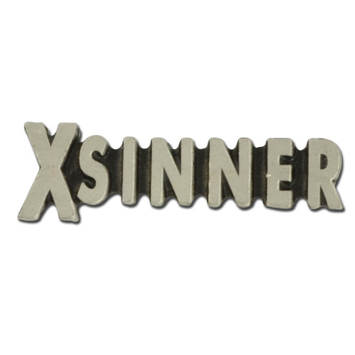 X Sinner Lapel Pin