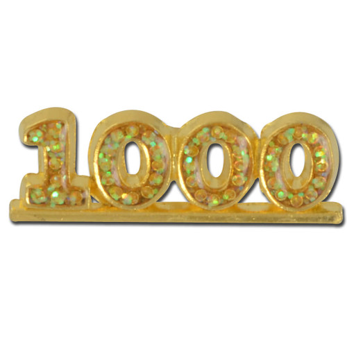 1000 stoned Lapel Pin