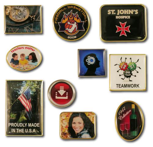 Custom Lapel Pins: Custom Digital Print Photo Dome Lapel Pins