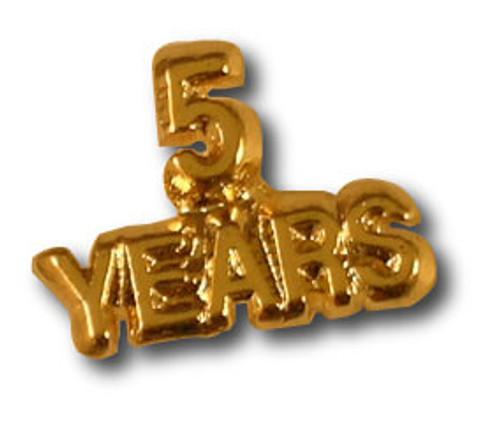 5 Yyears Lapel Pin