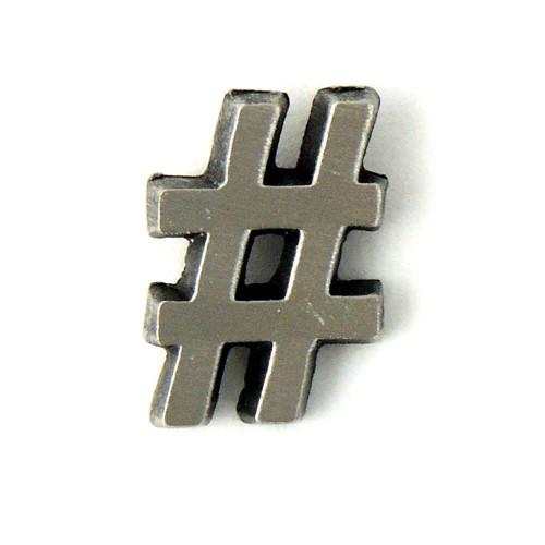 Hashtag # Lapel Pin