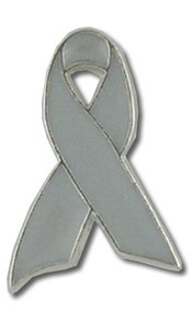 Gray Ribbon lapel Pin
