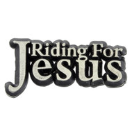 Riding for Jesus Lapel Pin