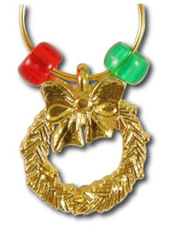 Wreath Wine Charm - Single