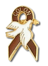 Colon Cancer Dove Lapel Pin