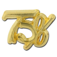 75 percent Lapel Pin
