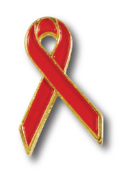 AIDS Red Ribbon Lapel Pin