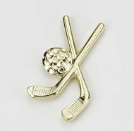 Crossed Clubs 3 Lapel Pin