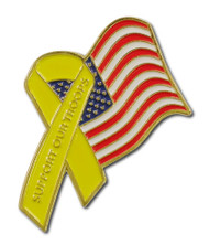 American Yellow Ribbon Lapel Pin