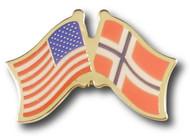 US Norway Crossed Flags
