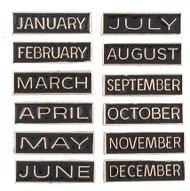 Calendar Months Lapel Pin