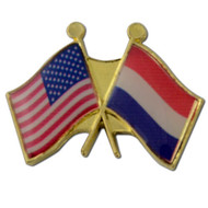 Crossed Flags Lapel Pins - Any Two Flags