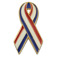 Red White and Blue Awareness Ribbon
