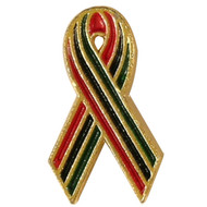 African American Aids Awareness Ribbon Pin
