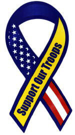 Patriotic Flag Support Our Troops Car Magnet