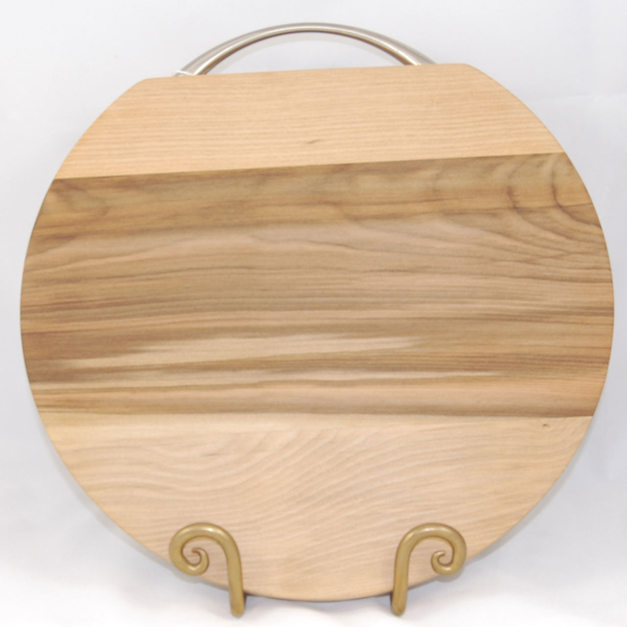Round Wooden Cheese Board With Handle Wood Platter