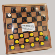 Classic Wooden Boxed Draughts Game