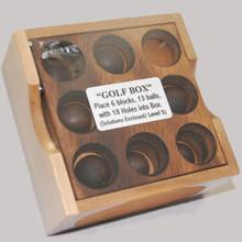 Golf Wooden Box Puzzle Brain Teaser