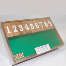 Wooden Shut the Box Board Game