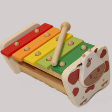 Natural Wood Xylophone Toddler Instrument