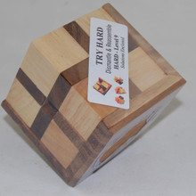 Difficult Cube Wooden Puzzle Brain Teaser