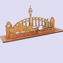 Large Sydney Scape made of Australian native Timbers.